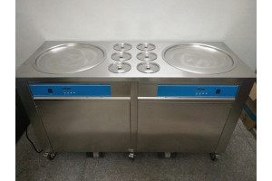 Ice Cream Roll Machine Double Pan (3 Compressor)