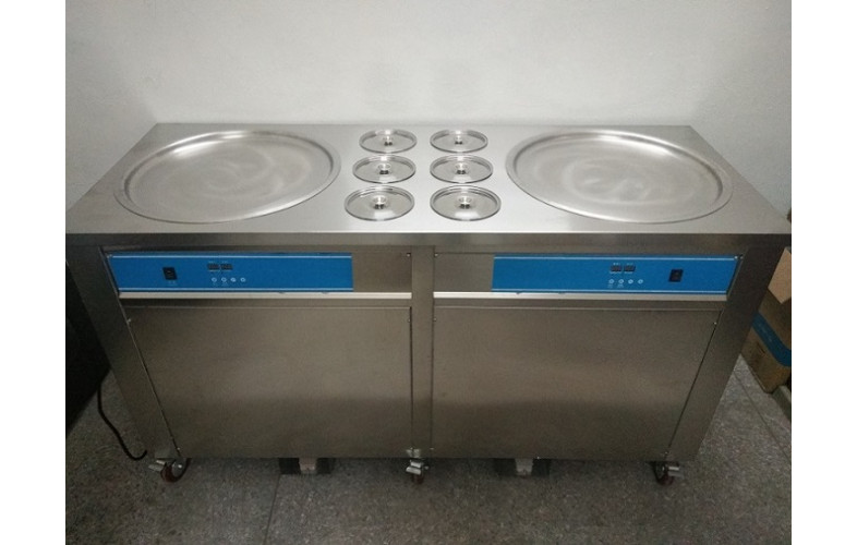 Ice Cream Roll Machine Double Pan (3 Compressor)
