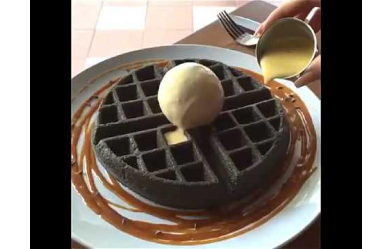 Belgian Waffle Premix Chocolate Charcoal 4000g