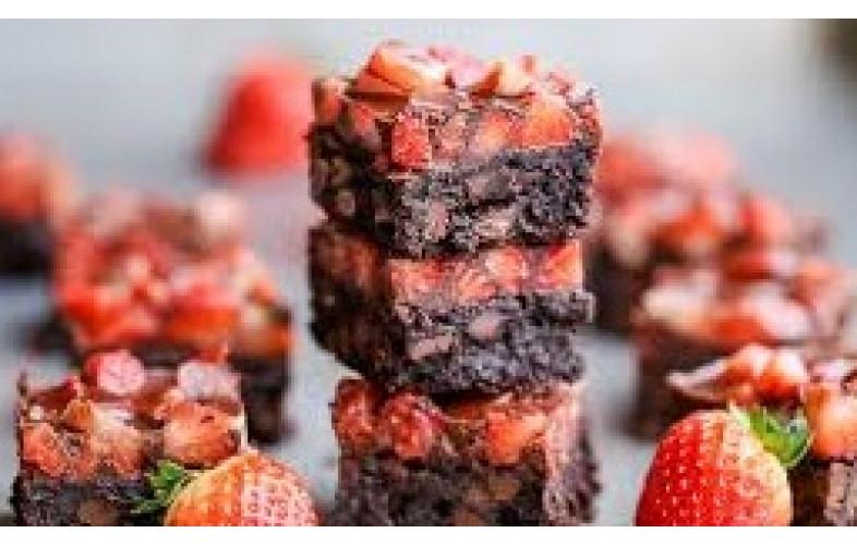 Brownie Premix Chocolate Strawberry - 800g