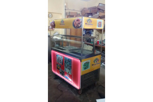 Ice Cream Roll Kiosk Double Pan (3 Compressor)