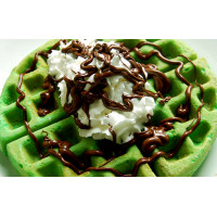 Protein Waffle Premix Green Apple - 400G